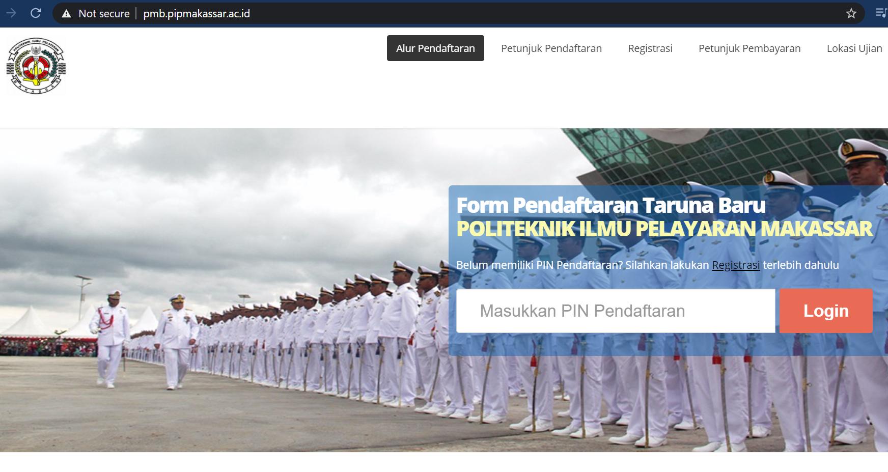 Laman Penerimaan PIP Makassar