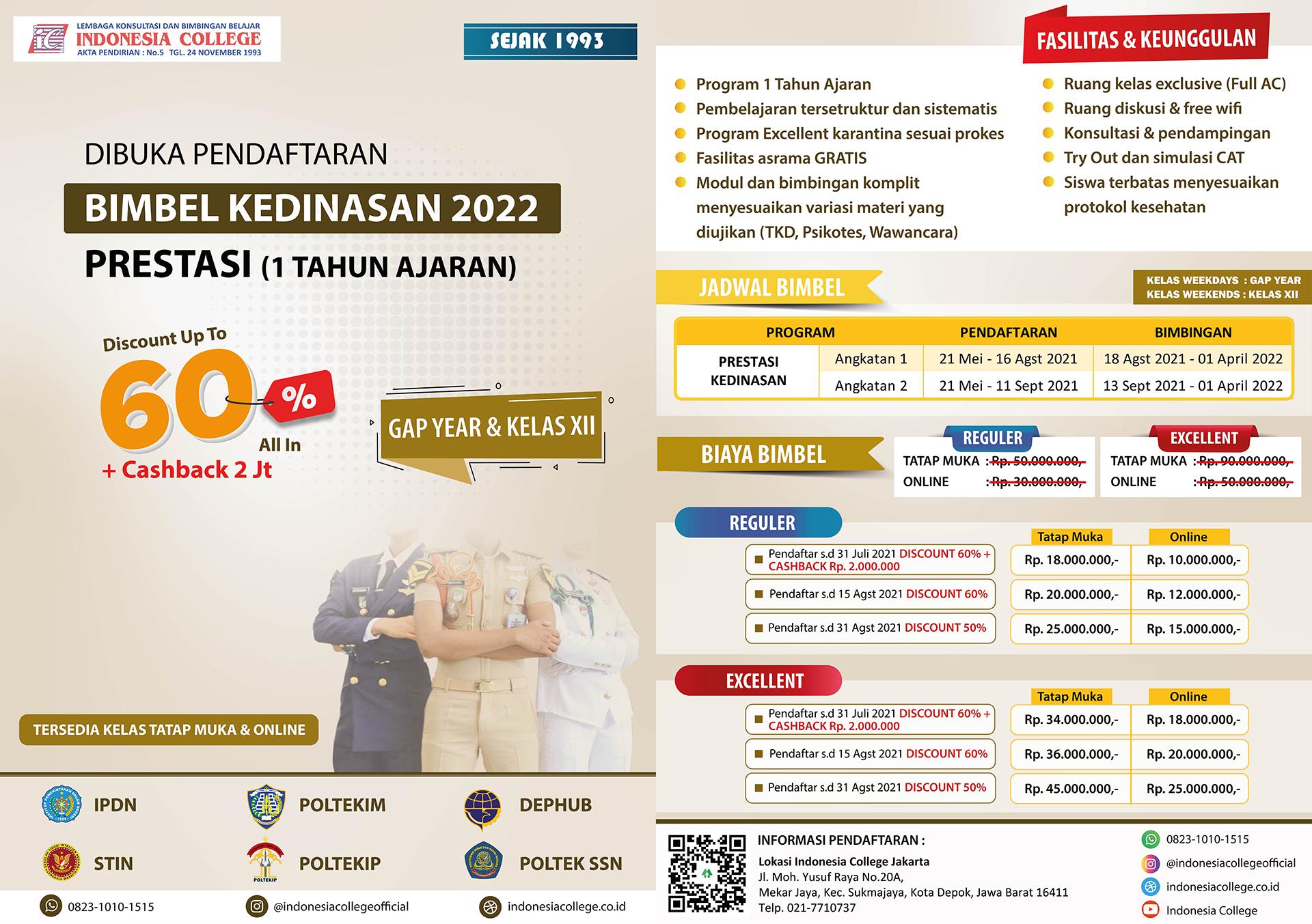 Bimbel Kedinasan Prestasi 2022