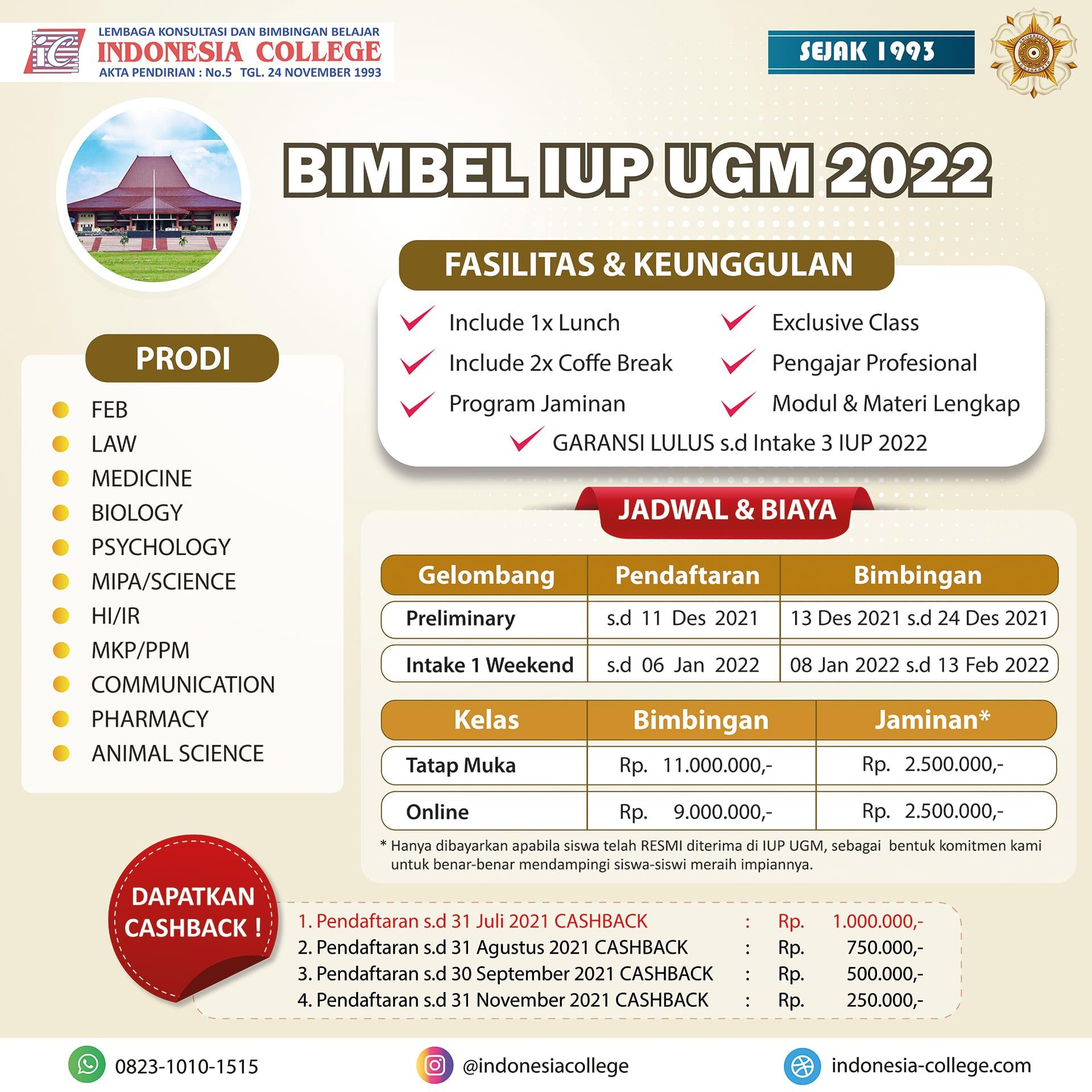 Bimbel IUP UGM 2022